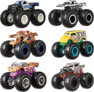Mattel FYJ64 Hot Wheels Monster Trucks 1:64 Die-Cast 2er-Pack, sortiert