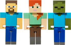 Mattel FLC70 Minecraft Actionfiguren im großen Maßstab (21 cm), sortiert