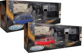 Speedzone D/C Fahrzeug mit Pferdeanhänger 1:43