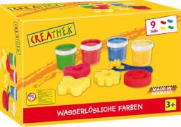 Creathek Fingerfarbe 4er mit Malschwämmchen