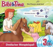 Bibi und Tina: Die Ponys sind los (CD-Box-Set, 3 Hörspiele)