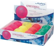 John 32069 - Anti-Stressball, neon, sortiert, Durchm.: 7,5 cm