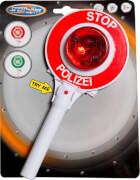 Speedzone Polizeikelle mit 2 LED-Lichtern, W190 x H250 mm